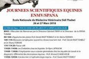 Programme Journées Scientifiques Équines ENMV/SPANA